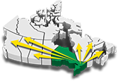 Map of Canada showing logistics